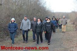 La première marche des Abreuv'art des Galipotes à Saint-Vallier