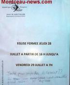 Un concert annulé à l'église du bourg de Saint-Vallier…