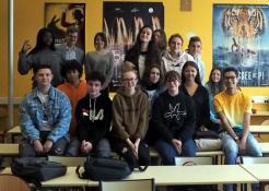 Voyage des élèves de l'option cinéma du Lycée Parriat au Festival de Cannes