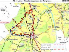 RD 18 – Commune de Laives : Rénovation du Ponceau des Ravigneaux