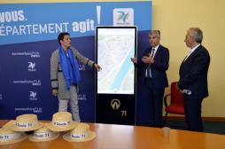 Lancement officiel de l'applicationRoute71 – Bourgogne du Sud (Voir la vidéo)