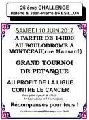 RAPPEL / Ligue Contre Le Cancer : Challenge Hélène et Jean-Pierre Brésillon