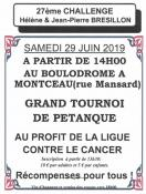 Rappel : Comité local de la Ligue contre le cancer : « Challenge Hélène et Jean-Pierre Brésillon »