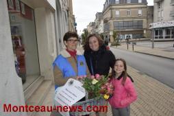 """Opération """"Roses de l'espoir"""" du Lions Club (Montceau-les-Mines)"""