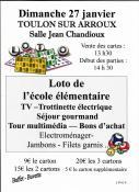 Au  profit de l'école élémentaire de Toulon-sur-Arroux (Sortir)