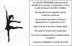 « Majos Cirysiennes » (Ciry-Le-Noble)
