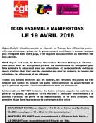 Journée d'action interprofessionnelle du 19 avril 2018 (Social)