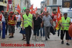Montceau manifestation contre la loi Travail