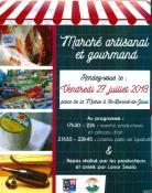Marché de Producteurs et Artisans d'art à Saint Bonnet-de-Joux (Sortir)