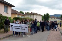 Marche à Cluny en mémoire de Jérôme Laronze