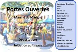 Petit marché à Marigny