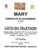 Loto du Téléthon de Mary (Sortir)