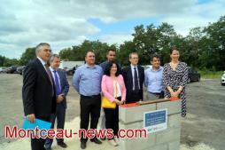 Mecateamcluster : pose de la première pierre du centre de maintenance de locomotives Erion France