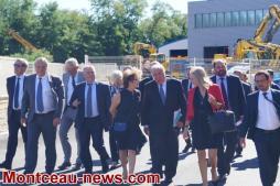 Gérard Larcher visite deux entreprises du Mecateamcluster