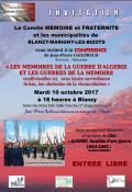 Conférence : « Les mémoires de la Guerre d'Algérie et les guerres de la mémoire... »
