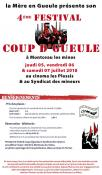 """4ème Festival """"Coup d'Gueule"""" à Montceau (Sortir)"""