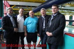 Une visite surprise au meeting de Montceau Olympic Natation.....