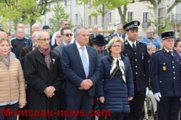 Commémoration de la victoire du 8 mai 1945 à Montceau et Saint-Bérain-Sous-Sanvignes