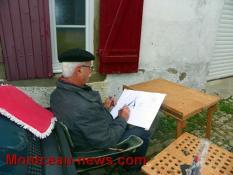 Peintres au village (Mont Saint Vincent)