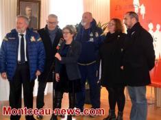 L'équipe de  rugby U20 italienne à Montceau