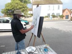 « Peintres au village » (Mont-Saint-Vincent)