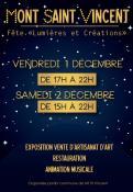 3ème Fête « Lumières et Créations » (Mont-Saint-Vincent)