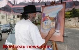 Peintres au village ( Mont-Saint-Vincent)