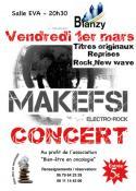 """""""Makefsi """" en concert, le vendredi 1er mars à la salle de l'EVA à Blanzy"""