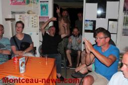 France – Allemagne, ambiance au camping du lac à Palinges