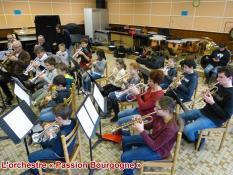 L'orchestre « Passion Bourgogne » (Saint-Vallier)