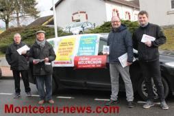 Le parti communiste français sur le terrain à Saint-Vallier