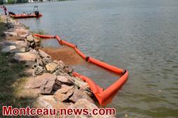 Réactualisé  / Montceau-les-Mines Pollution par hydrocarbure au lac du Plessis
