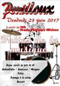 Vendredi 23 juin 2017, faites de la musique au stade à Pouilloux (19h)