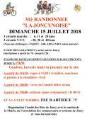 """31ème randonnée """"La Joncynoise"""""""