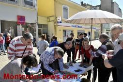 Rassemblement des retraités à l'appel de la CGT (Montceau)