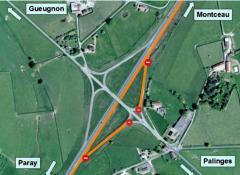 Aménagement à 2x2 voies de la RCEAentre Paray-le-Monial et Montceau-les-Mines