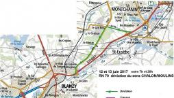 RCEA – RN70 - Commune de Blanzy