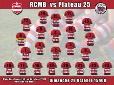 RCMB - Plateau 25 ce dimanche après-midi (Et sur leur chaîne Youtube)