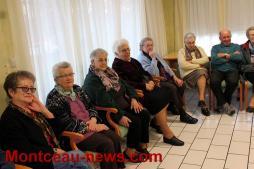 Vœux de la municipalité à la résidence des Tilleuls à Saint-Vallier