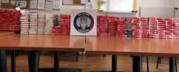 Saisie de 2 456 paquets de cigarettes....