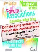 Don du sang au forum des associations de Montceau