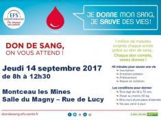 Don du sang à Montceau