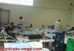 Collecte de sang à la salle du Magny (Montceau)