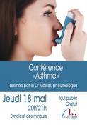 """Conférence sur """"l'Asthme"""" (Montceau-les-Mines)"""