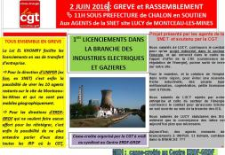SNET - Site Lucy : manifestation à Chalon-sur-Saône...