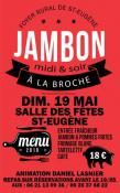 Jambon à la broche à Saint-Eugène