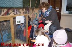 Inauguration d'un poulailler pédagogique à Saint Laurent d'Andenay