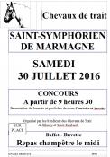 Concours de présentation de chevaux de trait à Saint Symphorien de Marmagne