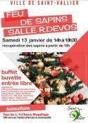RAPPEL : La fête autour d'un feu de sapins (Saint-Vallier)
