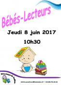 Jeudi 8 juin 2017, 10h30, à la bibliothèque à Pouilloux